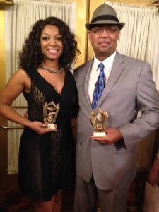 Tamika Dunning and Sam at awards
